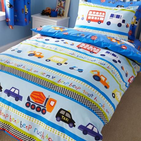 Transport Blue Bed Linen Collection