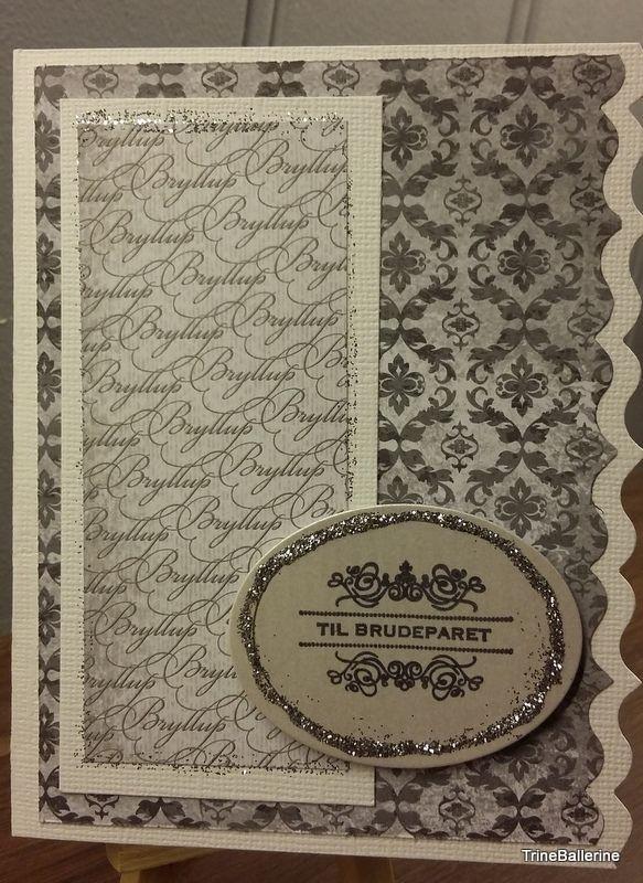 Enkelt og flott bryllupskort fra Susanne Helset.