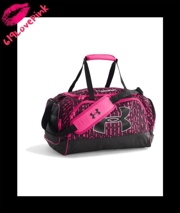 Under Armour Women's Watch Me Duffel Bag Hot pink black Sports Gym Bag NWOT RARE #UnderArmour