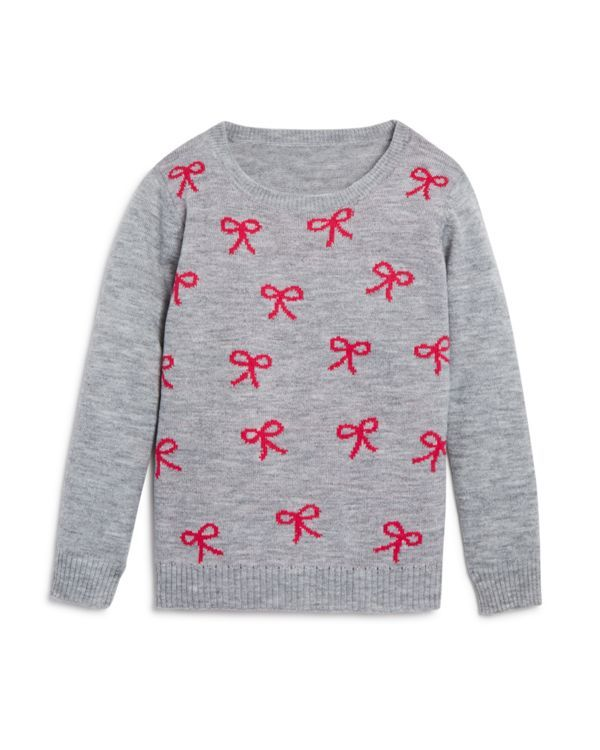 Bloomie's Girls' Bow Sweater - Sizes 2-6X