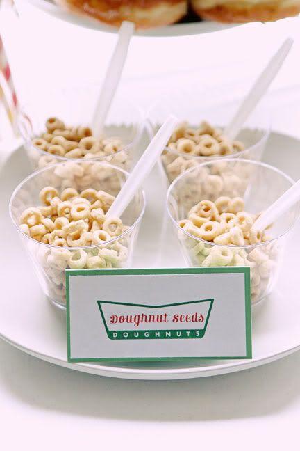 "doughnut ""seeds"" -- donut party"