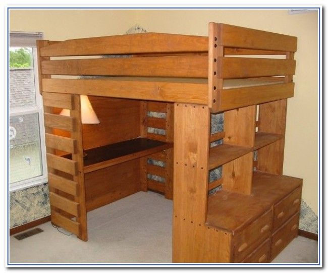 Wood Bunk Beds With Desk #5: 562 Best Images About Building On Pinterest | Loft Beds, Ana White And  Futons