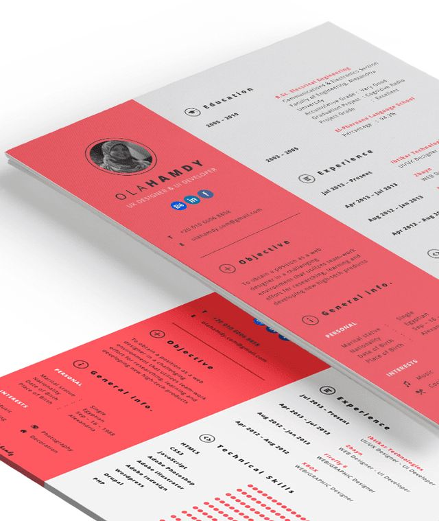 50 inspiring resume designs And what you