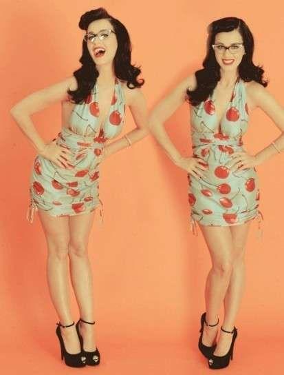 Katy Perry con un coordinato tipicamente anni '50... vediamo come lo stile di quegli anni viene continuamente riproposto anche tra i Big della musica e dello spettacolo