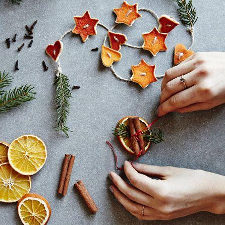 Torkade apelsiner & fler julpynt med apelsin | ICA Buffé