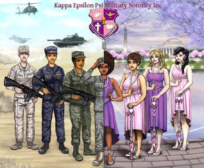 my founders day gift to my sorors keΨ military sorority