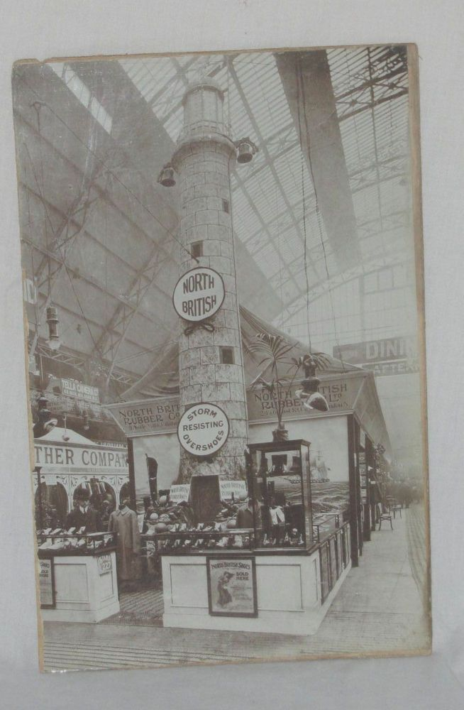 Photo Crystal Palace World's Fair London 1851 North British Rubber Shoes Boots
