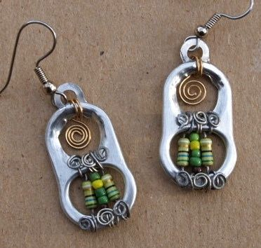 Pull Tab  Electronics Resistors by Junksmith, via Flickr SO Cool!!!! Now thats reusing! Id add a little color to the silver tab