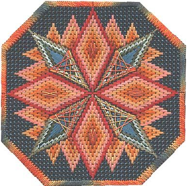 Brasilia, bargello needlepoint