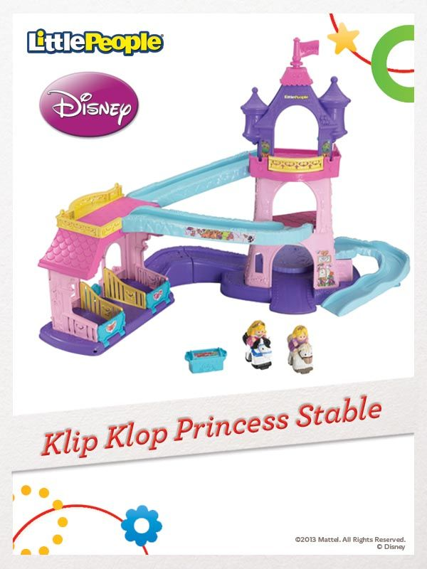 Bring the Disney princesses and their horses to life with the Klip Klop Princess Stable. #FisherPrice #Toys
