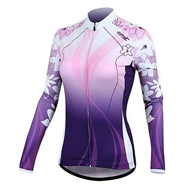 Tops / Jerseyes (Blanco / Morado) - de Ciclismo - Mantiene abrigado / Secado rápido / Listo para vestir / Resistente a los UV - de – USD $ 24.99