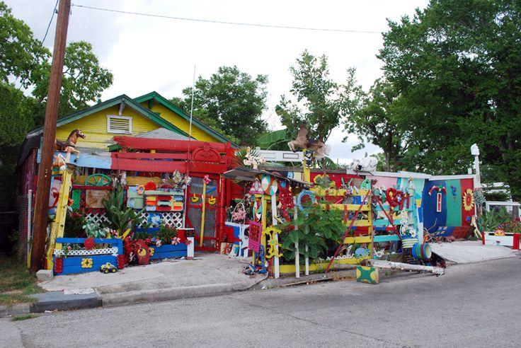 The Flower Man's House in Houston, TX
