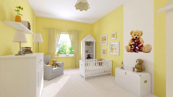 Ciepły, słoneczny pokój dla dziecka.