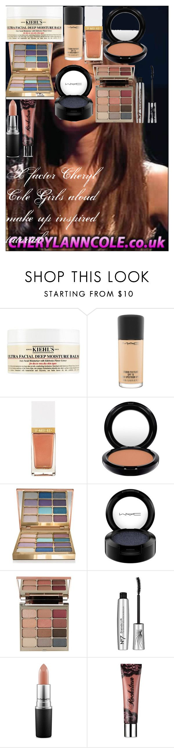 """""""X factor Cheryl Cole Girls aloud make up inspired tutorial"""" by oroartye-1 on Polyvore featuring beauty, Kiehl's, MAC Cosmetics, Tom Ford, Stila, Boots No7 and Benefit"""