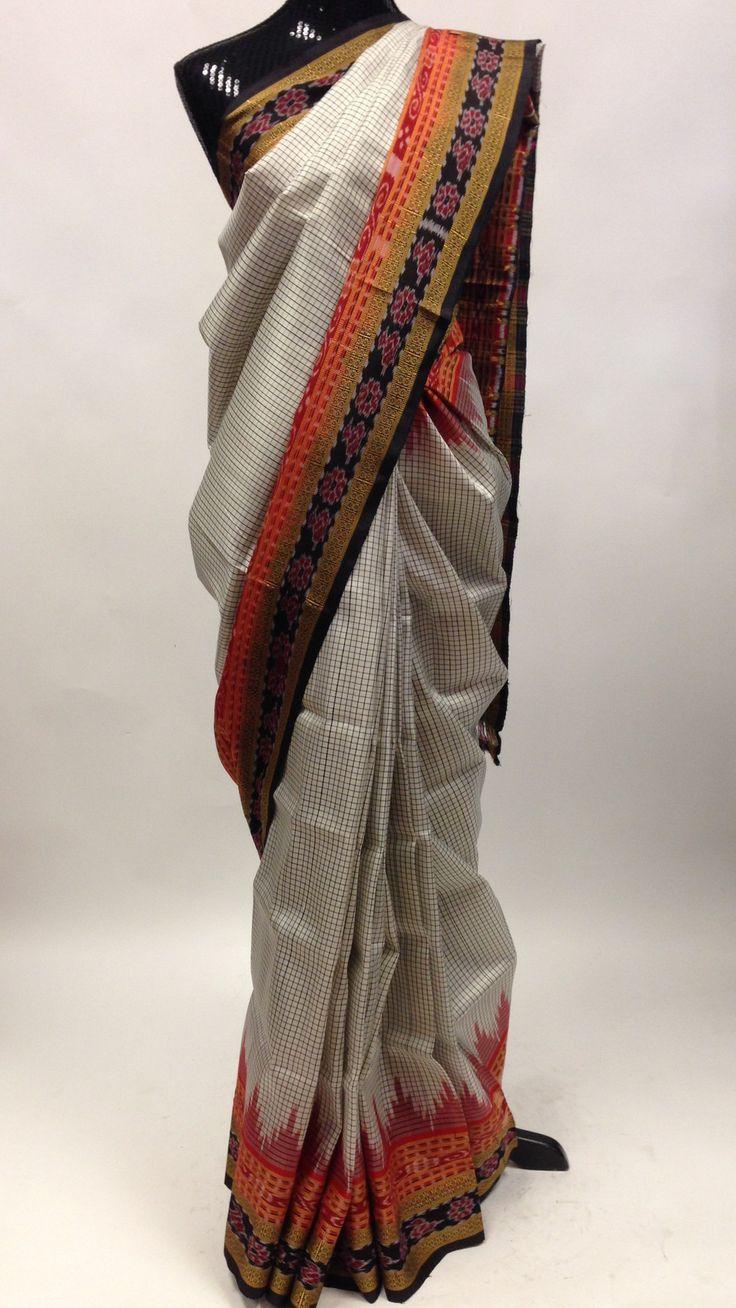 Pure Patola Silk Saree - Black & White