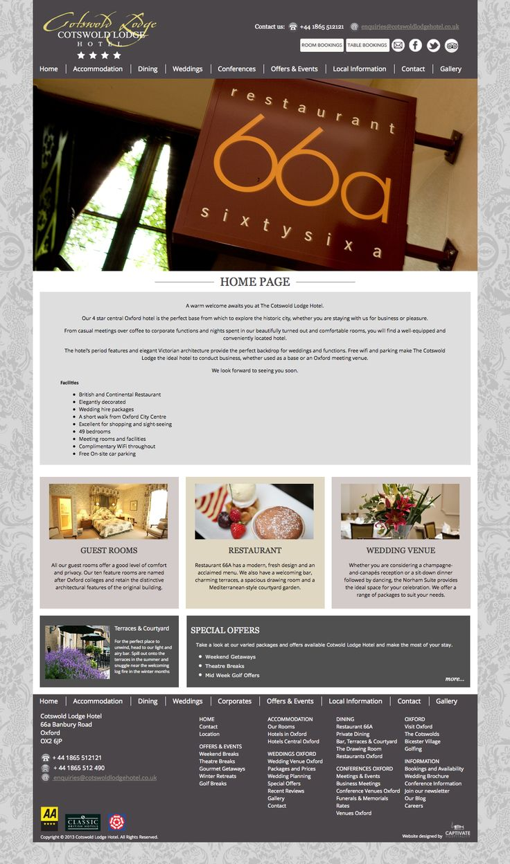 Cotswold Lodge Hotel Website