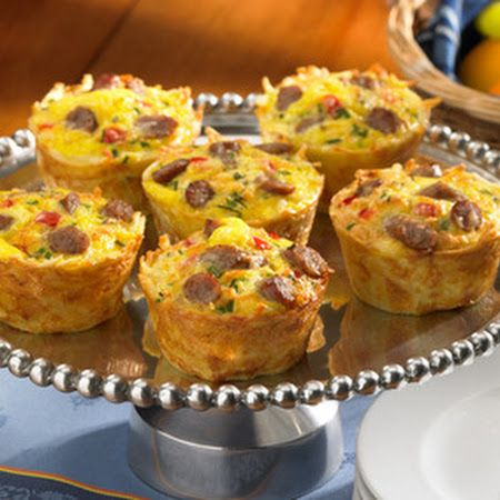 Breakfast: Hash Brown Casserole Muffin Cups - Improve the flavor for any meal with Ac'cent - accentflavor.com - #accent #muffin #hashbrown #sausage #breakfast