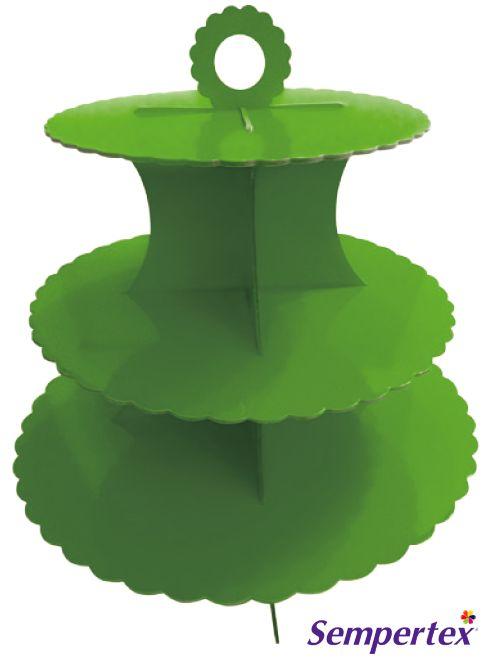 Torre de Cupcakes Verde Lima x1