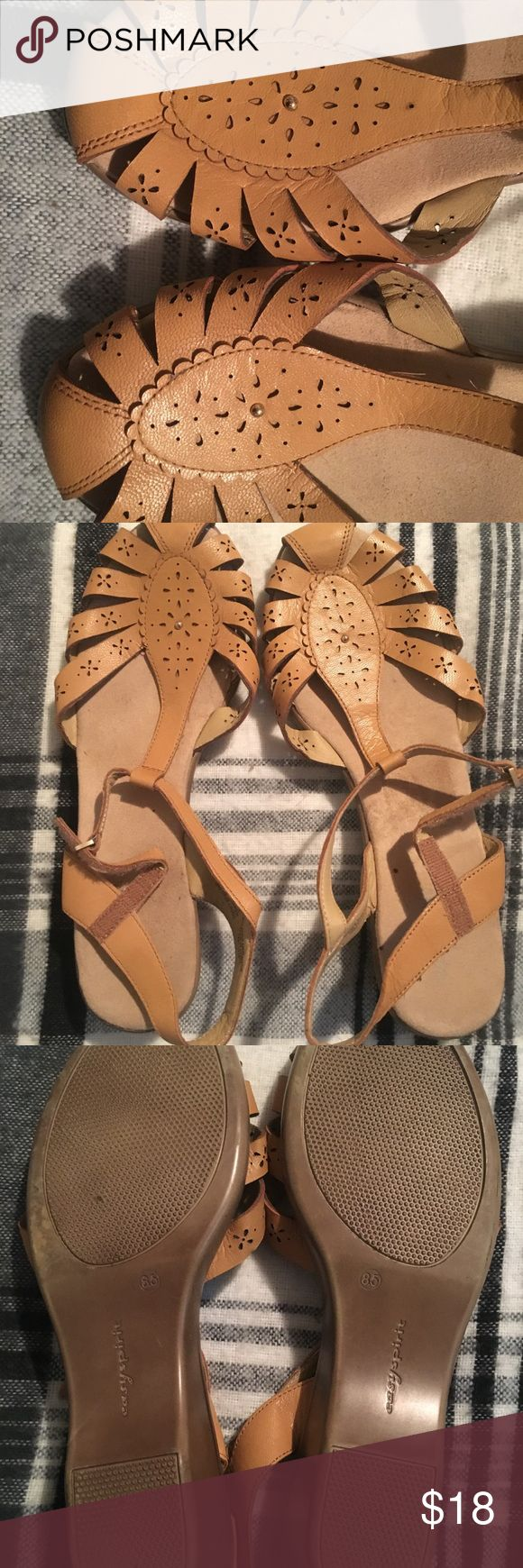 Easy Spirit  sandal Mustard yellow, super cute Easy Spirit sandals Easy Spirit Shoes Sandals