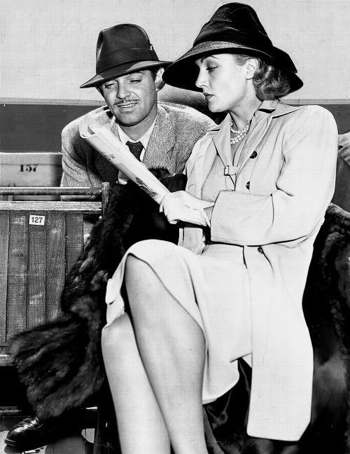 Clark Gable & Carole Lombard attending a horse show in California, 1940