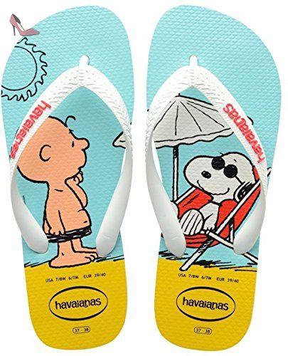 Havaianas Snoopy, Sandales Plateforme Mixte adulte - Blanc (white/white 0198), 43/44 - Chaussures havaianas (*Partner-Link)