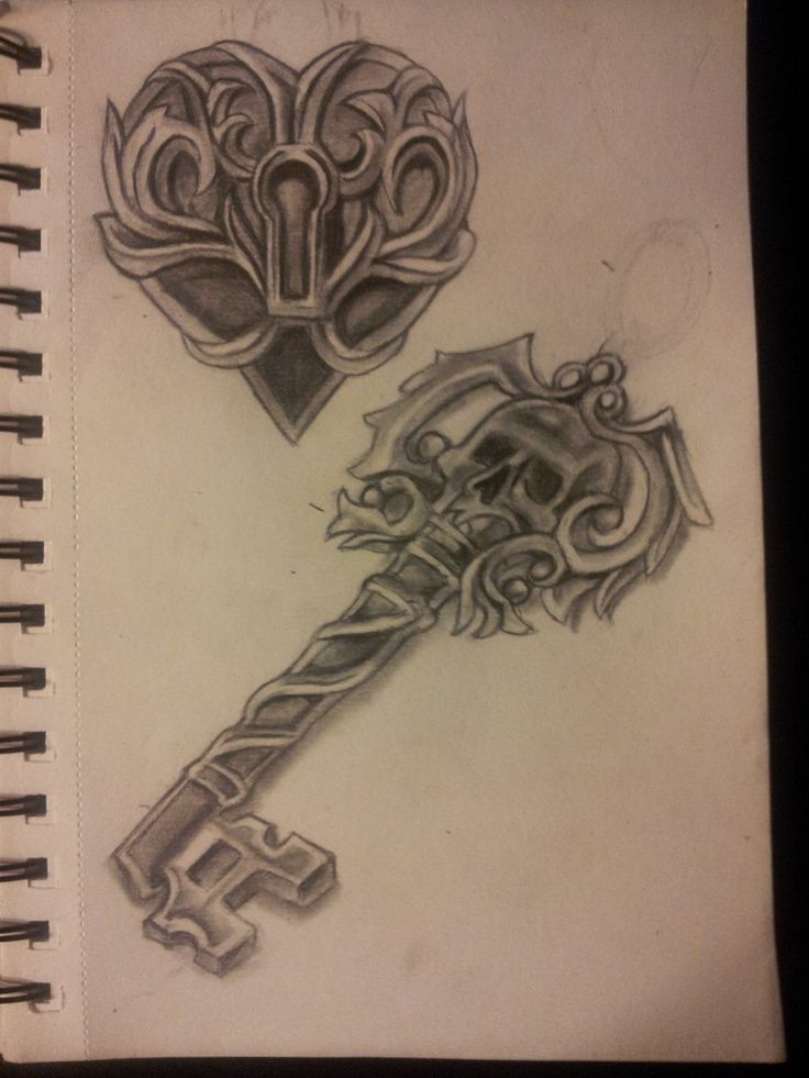 Skeleton Key Tattoo Heart locket with skeleton key tattoo flash