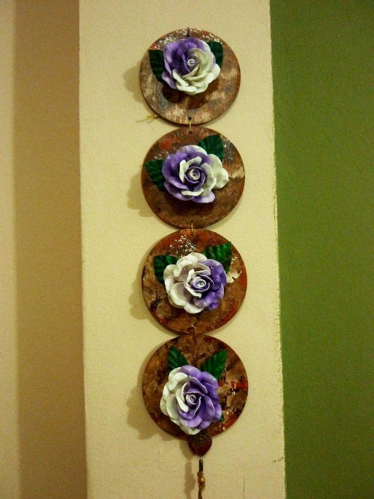 Quadro de cd com flores de eva midi silva da mota - Flore de goma eva ...