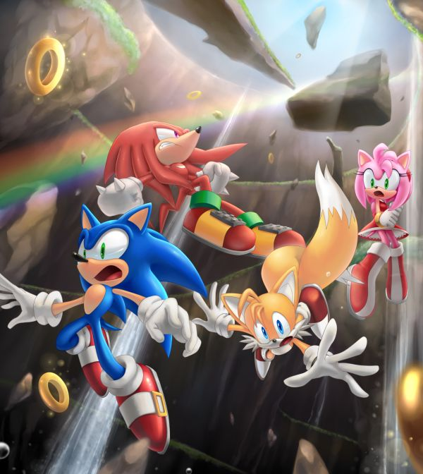 How they entered into the world of Sonic Boom! (Or everyone falling into the modern Hydrocity zone)