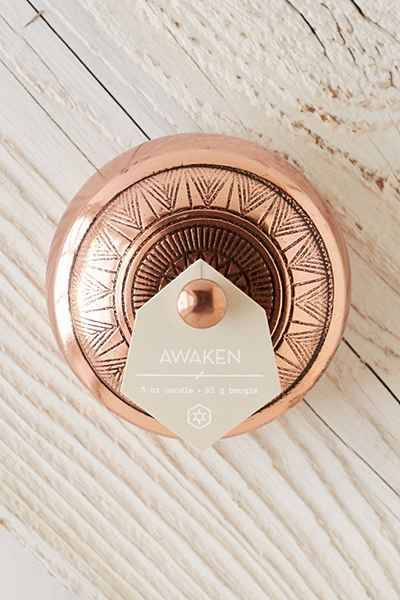 Awaken - Aspen Bay Candles Boho Embossed Tin Candle - Urban Outfitters
