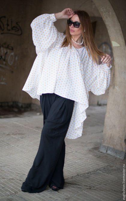Oversize polka dot blouse / Блузка. Модная блузка. Блузка в горошек. Ярмарка Мастеров - ручная работа.