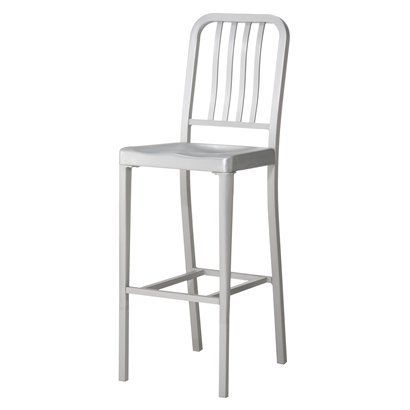 Give your kitchen or bar area an update and create extra seating with this aluminum dining stool