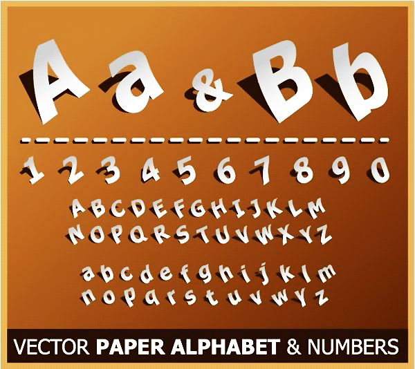 Paper Style Alphabet