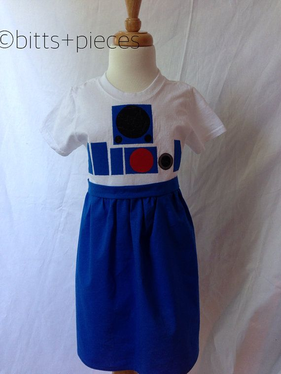 R2D2 Inspired T-shirt Dress sizes 2-4 ages by shopbittsandpieces