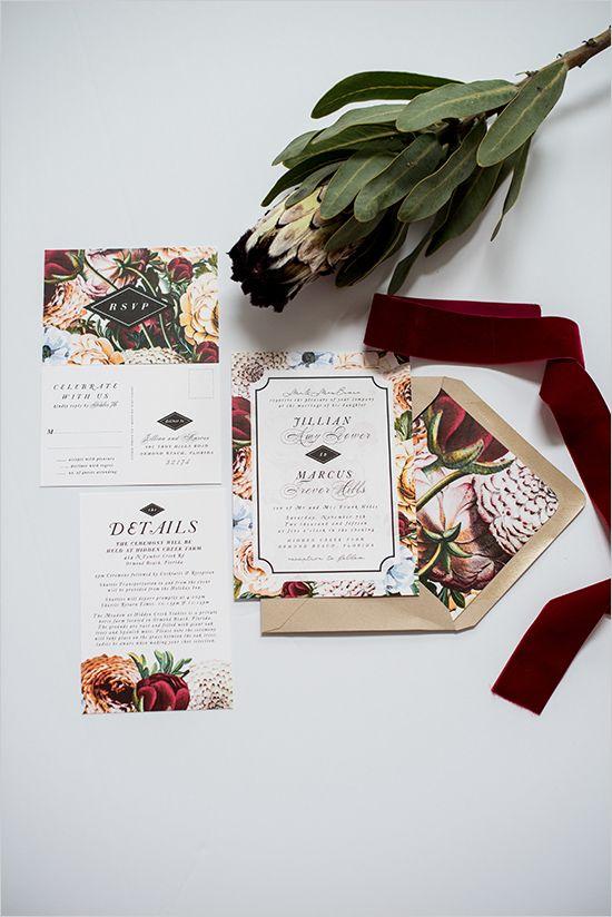 fall wedding invites @weddingchicks