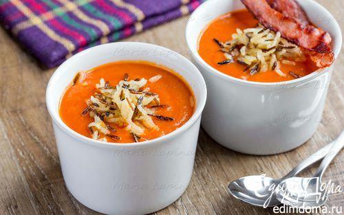Томатный крем-суп с хрустящим рисом | Кулинарные рецепты от «Едим дома!»