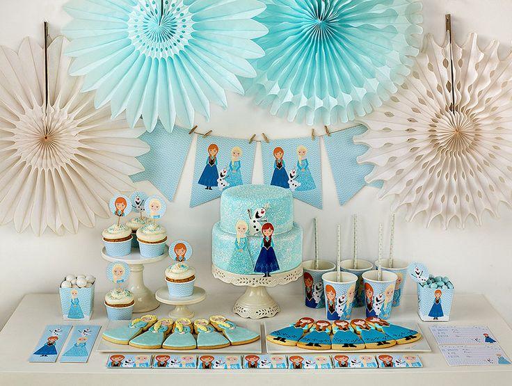 Tip para decorar una celebración de cumpleaños Frozen. #fiestadecumpleaños #Frozen