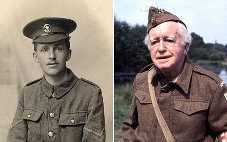 ARNOLD RIDLEY SERVED IN WW1 AND WENT ON TO PLAY GODFREY IN DADS ARMY.  THE HOKEY POKEY MAN AND AN INSANE HAWKER OF FISH BY CONNIE DURAND. AVAILABLE ON AMAZON KINDLE