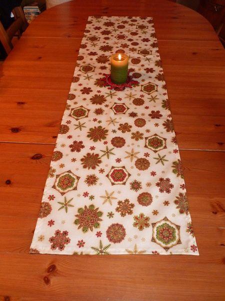 Weihnachtsdeko - Tischläufer Tischdecke Weihnachten Christmas US  - ein Designerstück von Bibo-Laedchen bei DaWanda