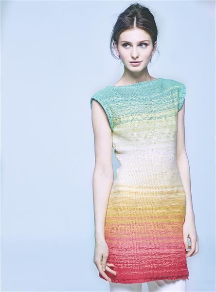 """Vol 4: Design 11 """"Liona"""" kjole med gradering #LeilaHafzi #SandnesGarn"""