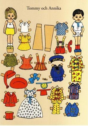 Postkarte A4, Tommy Annika