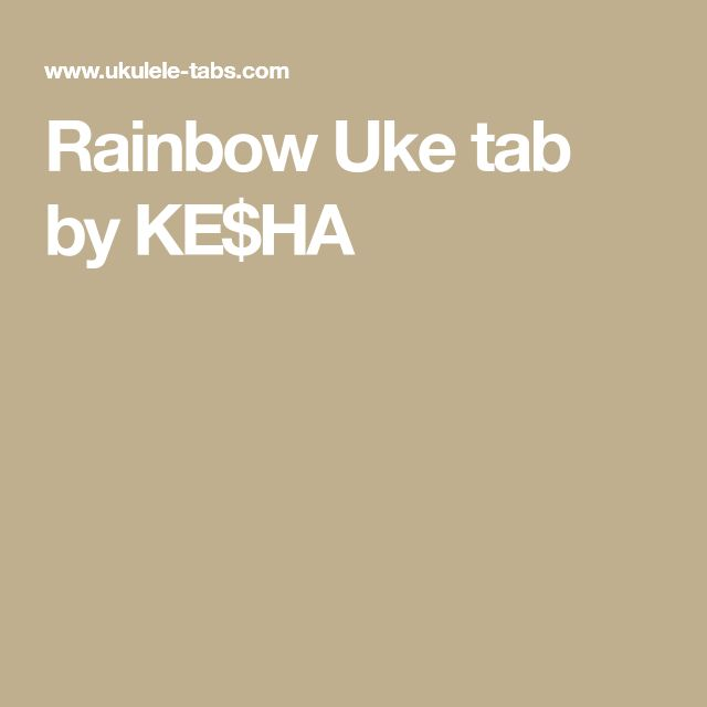 over the rainbow uke chords pdf
