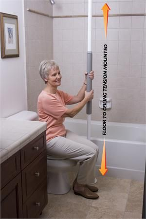 Bathroom Safety Tips #DisabledBathroomSafety >> Visit us for more info about safety issues in the home at http://www.disabledbathrooms.org/disabled-bathroom-flooring.html