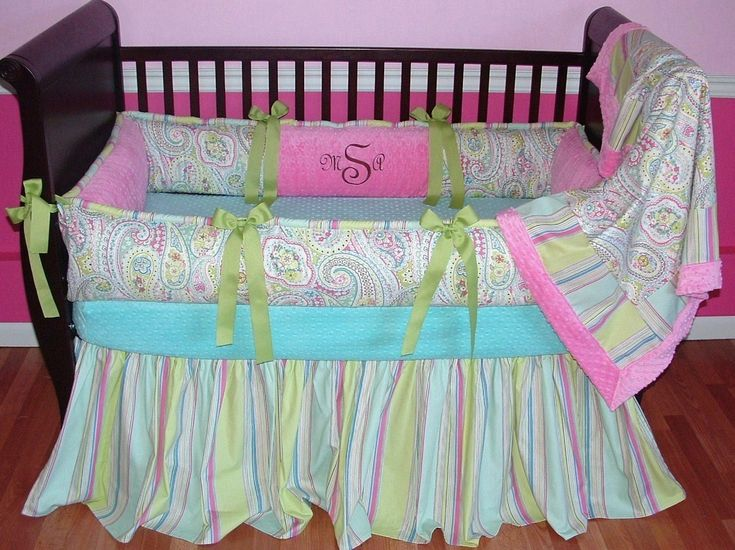 pixie paisley baby bedding this custom 3 pc baby crib bedding set includes bumper pad