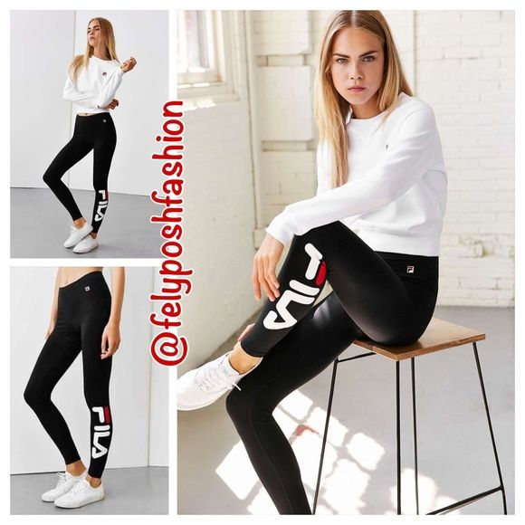 Urban Outfitters Fila Logo Leggings Urban Outfitters Fila Logo Leggings We're obsessed with these stretch-fit long leggings from our exclusive FILA collection. Inspired by their iconic '90s pieces, these softknit leggings are finished with an oversized logo at the leg. Urban Outfitters Pants Leggings