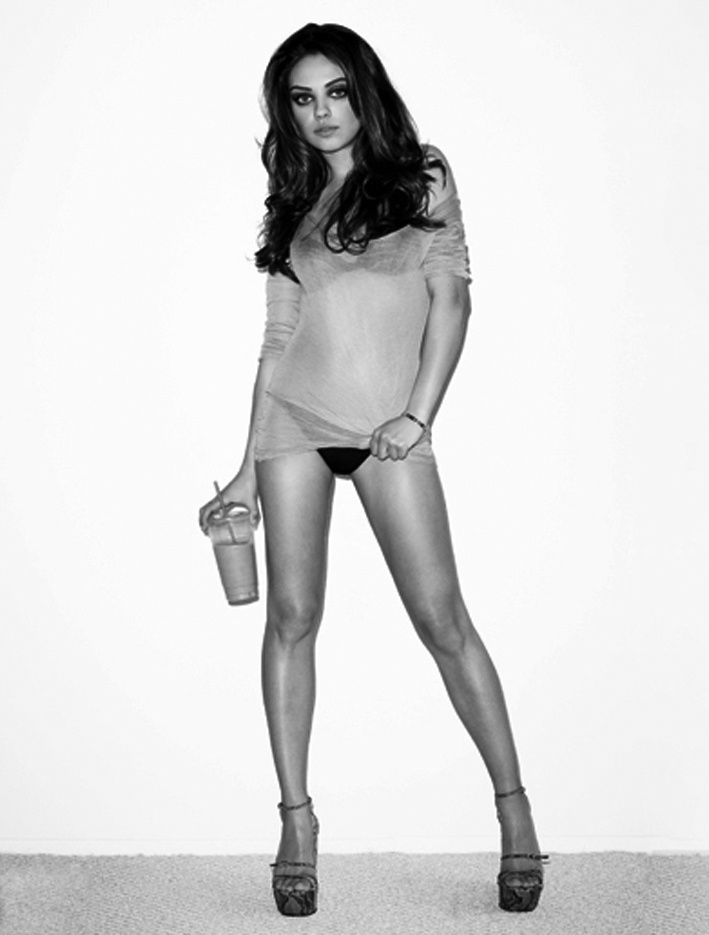 Mila Kunis.  Can't believe that she's the voice of Meg on Family Guy... she's too HOT!!