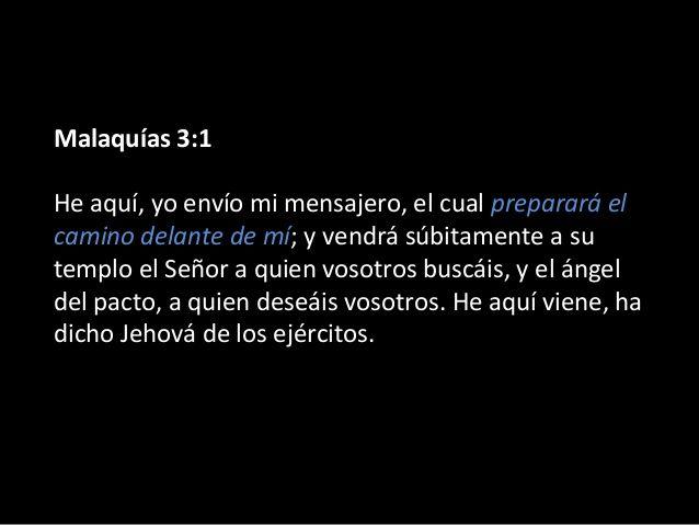 Resultado de imagen para MALAQUIAS 3:1