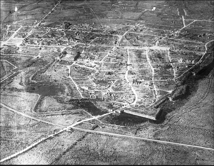 Ypres Quot Ieper Quot 1919 Completely Devastated Lower Left