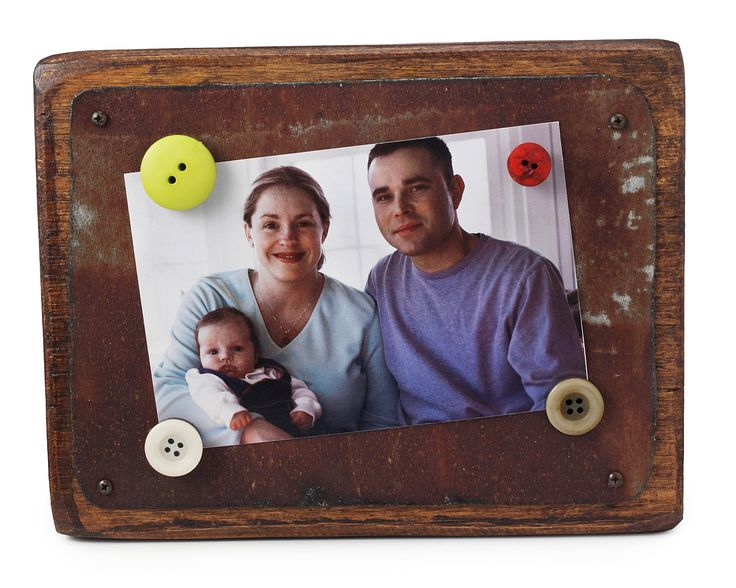 recycled tin picture frame