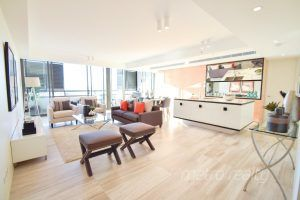 This West facing luxury apartment boasts of unobstructed water views of Sydney NSW.