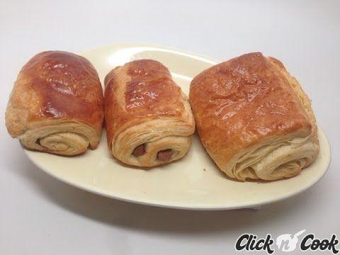 Recette de pains au chocolat et croissants - méthode escargot (Companion Moulinex)